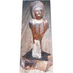 unique wood carved Indian art piece