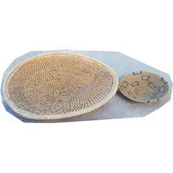 """2 Indian baskets, 15"""" in diameter"""