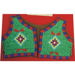 Sioux style beaded infant vest