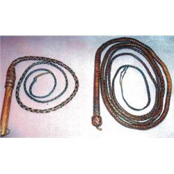 2 braided bull whips