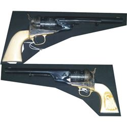 Richards conversion .44CF open top with ivory grips, Colt factory redone