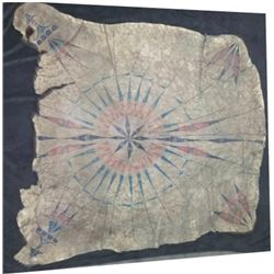 Indian painted bear hide 6' x 5' approximately, Northern Plains