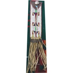 Sioux beaded scissors bag with silver concho