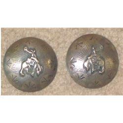 """bucking horse silver conchos, 2"""""""