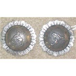 "Keyston Bros bucking horse silver conchos 2 1/2"""