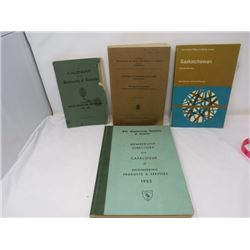 LOT OF 4 BOOKS (SK SAMPLE STUDIES, TORONTO UNIVERSITY, ANALYSIS OF CNDN COAL & PEAT FUELS, ENGINEERI
