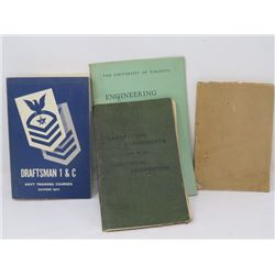 LOT OF 4 BOOKS (FIELD MESSAGE, DRAFTSMAN, ENGINEERING X 2)