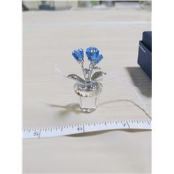 SWAROVSKI-MINATURE FLOWER VASE WITH BOX