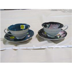 LOT OF 2 CUPS AND SAUCERS (OCCUPIED JAPAN)