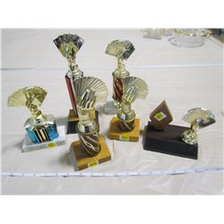 LOT OF CARD TROPHIES (BRIDGE)
