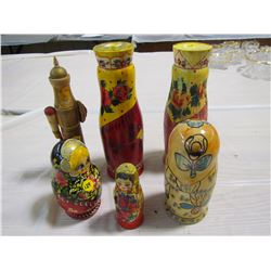 HAND PAINTED RUSSIAN DOLLS (HAND PAINTED) *STACKING DOLLS*