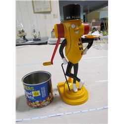 PEANUT BUTTER MAKER WITH TIN (MR.PEANUT) *VINTAGE*