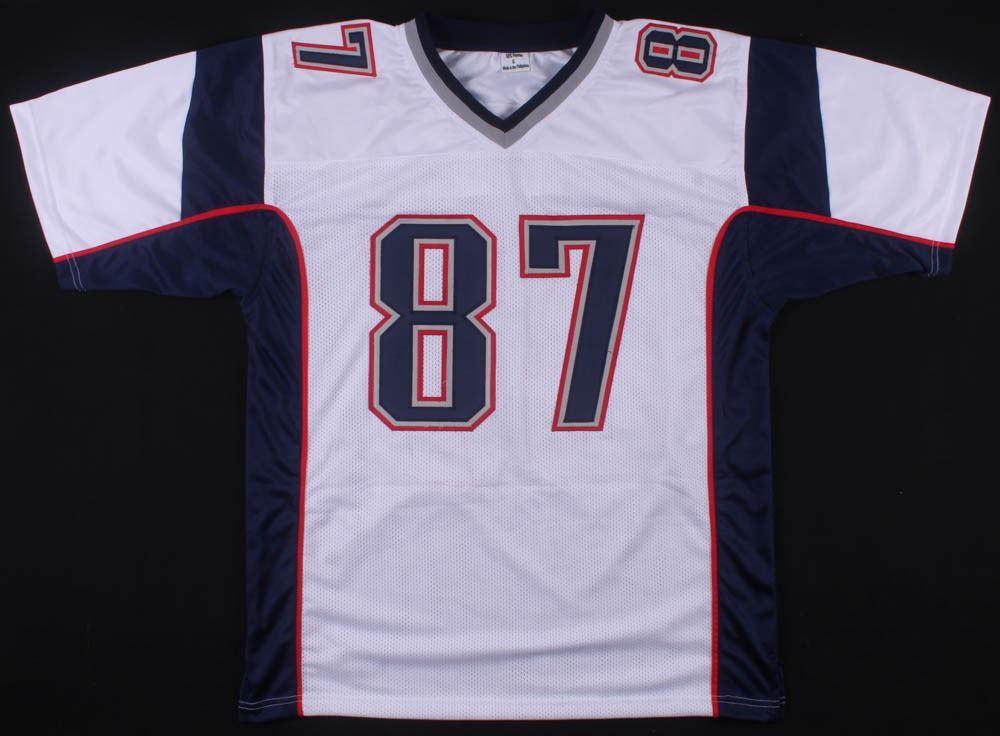 hot sale online 49dd1 a75ef Rob Gronkowski Signed New England Patriots Jersey (Beckett COA)