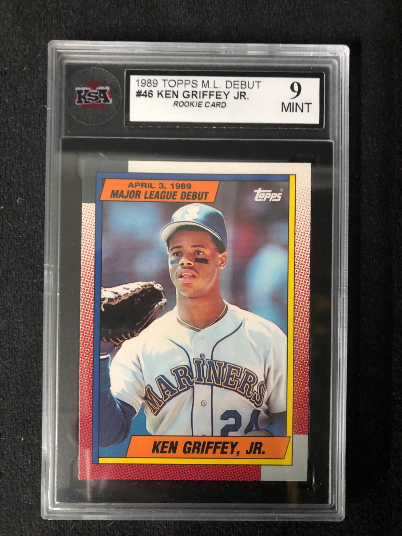 1989 Topps Ml Debut 46 Ken Griffey Jr Rookie Card 9 Mint