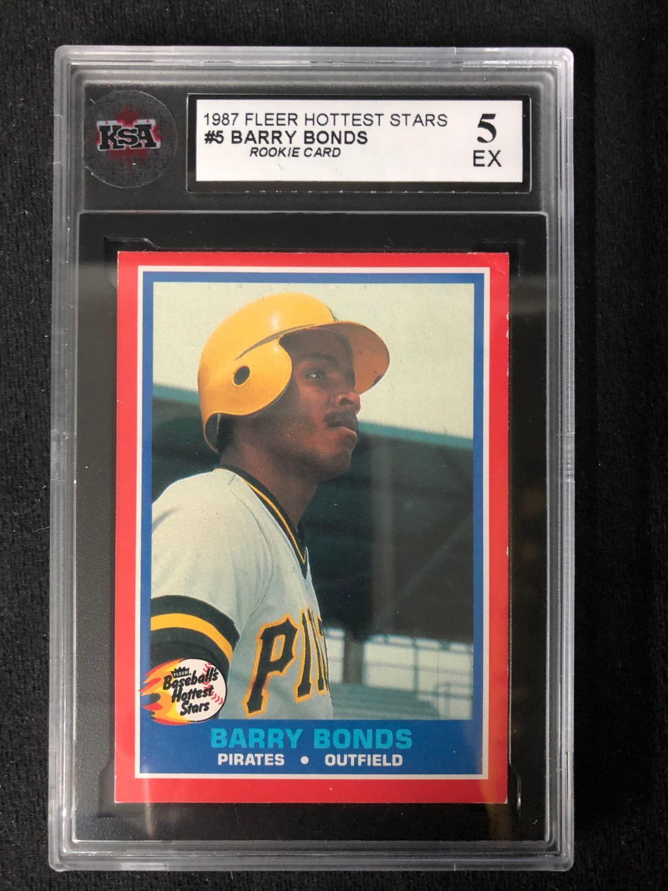 1987 Fleer Hottest Stars 5 Barry Bonds Rookie Card 5 Ex