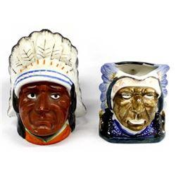 Japanese Porcelain Native American Bank & Pitcher