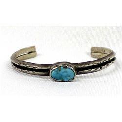 Vintage Navajo Sterling Turquoise Bracelet