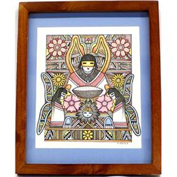 Original Native American Hopi Ron Koopee Painting