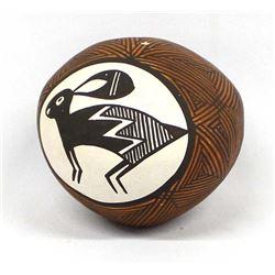 Acoma Pottery Seed Jar by Joyce Leno Barraras