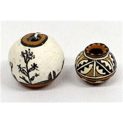 2 Native American Pottery Miniatures