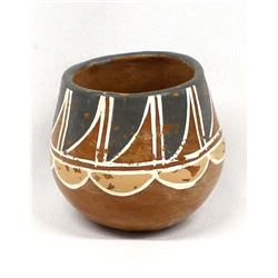 Vintage Santa Clara Polychrome Pottery Jar