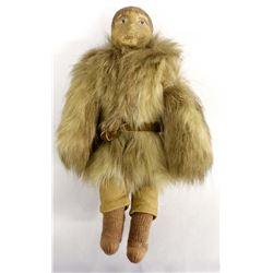 Antique Northwest Coast Eskimo Carved Wood Doll