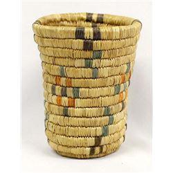 Native American Eskimo Cylindrical Basket