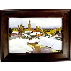 Original Russian Signed Watercolor
