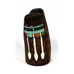 Hopi Back to Back Longhair Kachina by E. Polacca