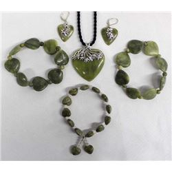 Sterling Silver and Jade Jewelry