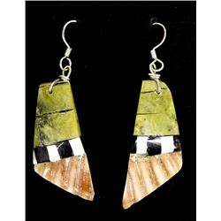 Santo Domingo Overlay Shell Earrings