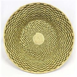 Ethnic 2-Toned Coiled Basket