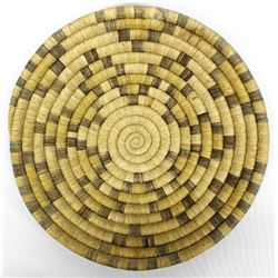 Vintage Native American Hopi Coiled Flat Basket