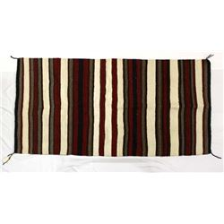 Red Lake Nation Navajo Wool Textile Rug