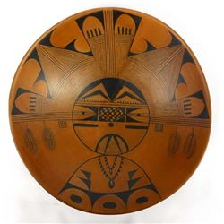 Large Hopi Pottery Bowl by Beth Sakeva