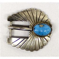 Navajo Sterling Turquoise Belt Buckle
