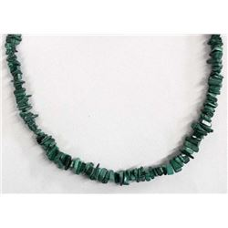 Navajo Sterling Malachite Bead Necklace