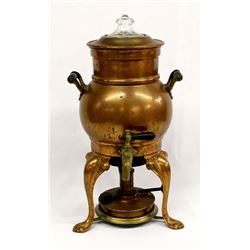 Antique Copper Samovar Percolator
