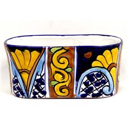 Mexican Glazed Pottery Planter by Ruth