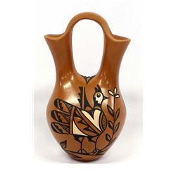 Jemez Polychrome Pottery Wedding Vase by C. Tosa