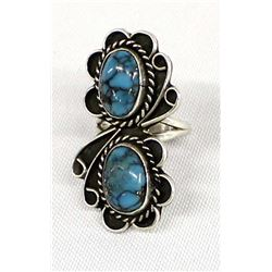 Navajo Sterling Turquoise Ring, Size 7.25