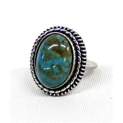 Sterling Turquoise Ring, Size 5.75