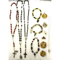 Large Collection of Estate Religious Jewelry