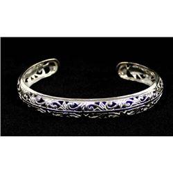 Sterling Silver Laser Cut Bracelet