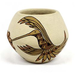 Jemez Pottery Hummingbird Jar by Lois Derek