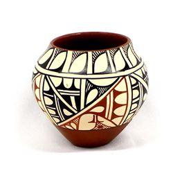Jemez Polychrome Pottery Jar by M. Chinana