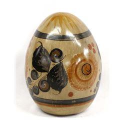 Vintage Tonala Egg Shaped Pottery