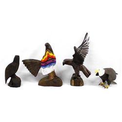 4 Eagle Figures