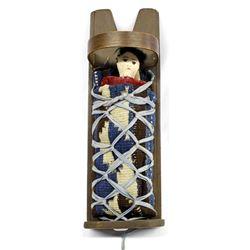 Vintage Navajo Doll in Cradleboard