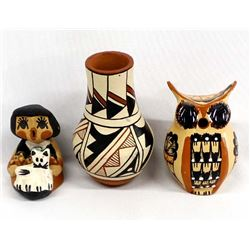 3 Pieces of Native American Jemez Pottery